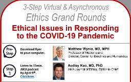Ethics Grand Rounds - April, 2020