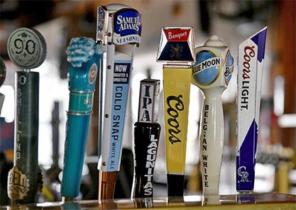 Beer taps in bar