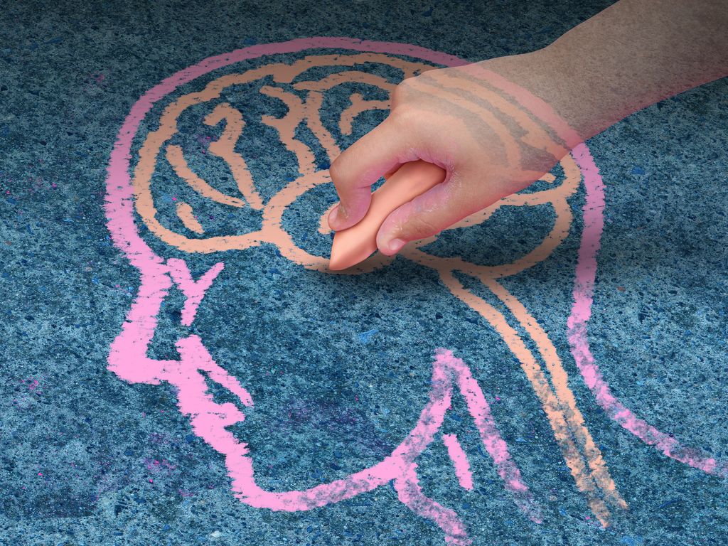 Brain chalk image
