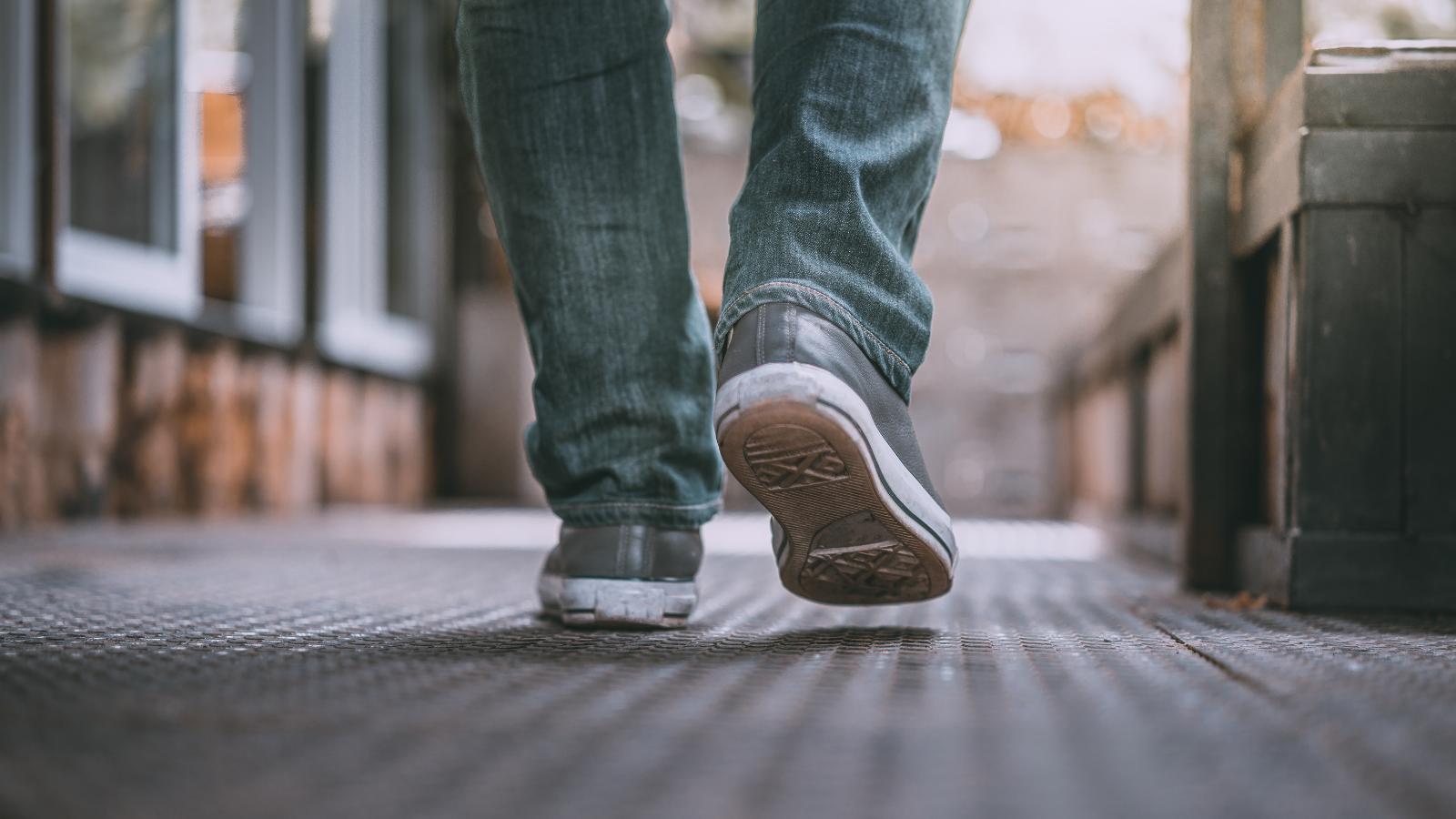 Image of feet walking