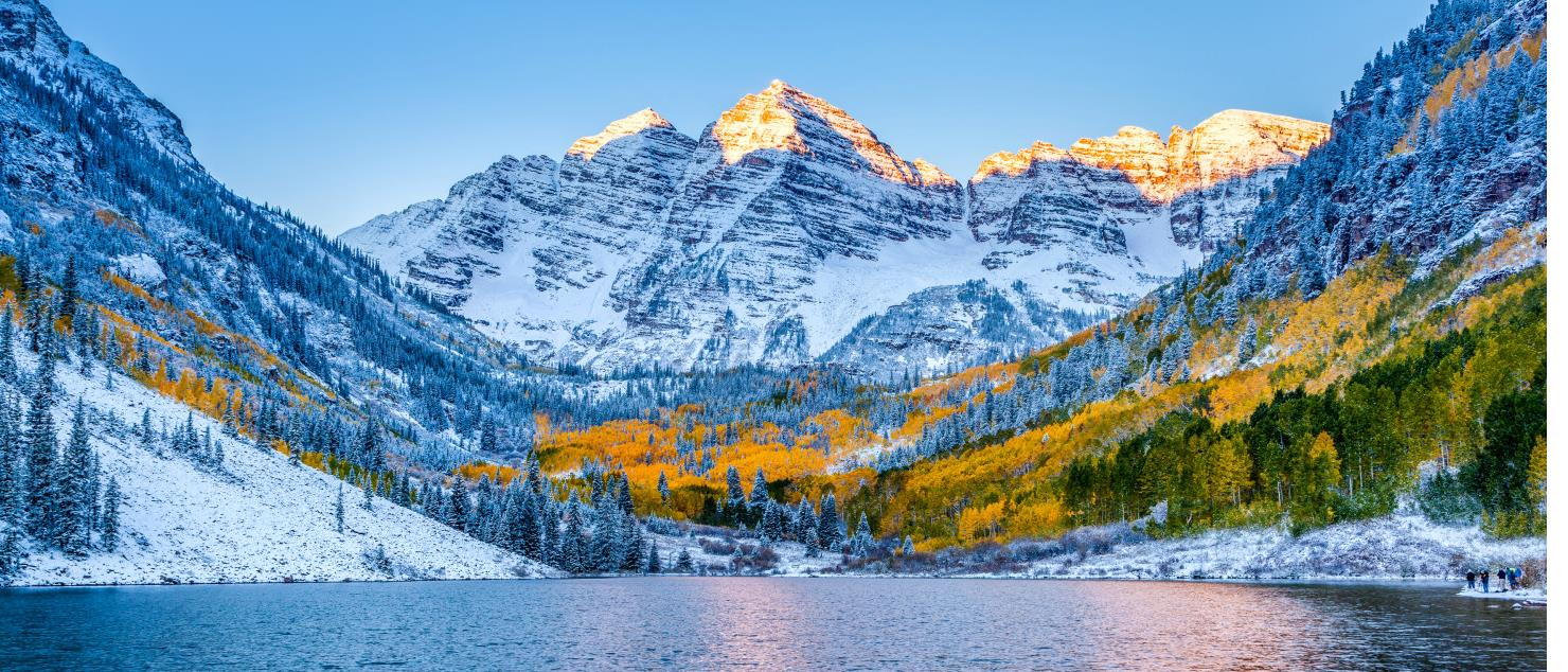 Rocky Mountains and Lake in Aspen