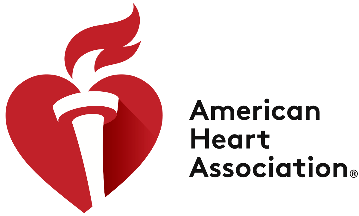 Logo of heart with torch