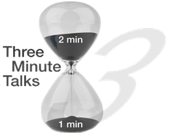 Hourglass for a 3 minute timer