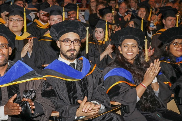 Graduate School students at ceremony
