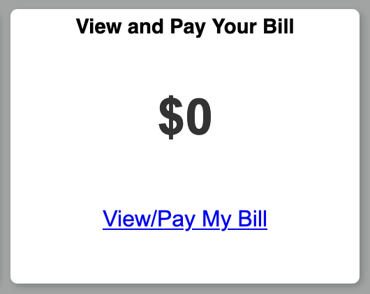 amount balance on bill