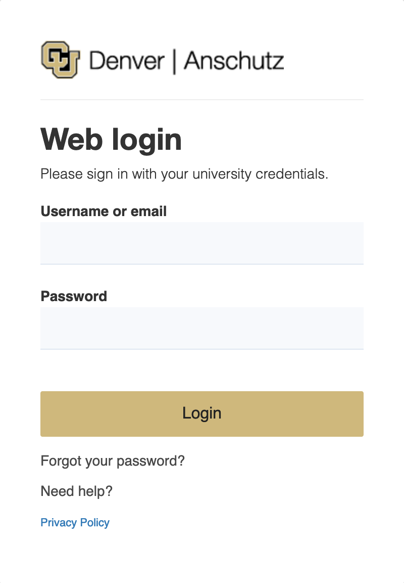 Log in to UCDAccess