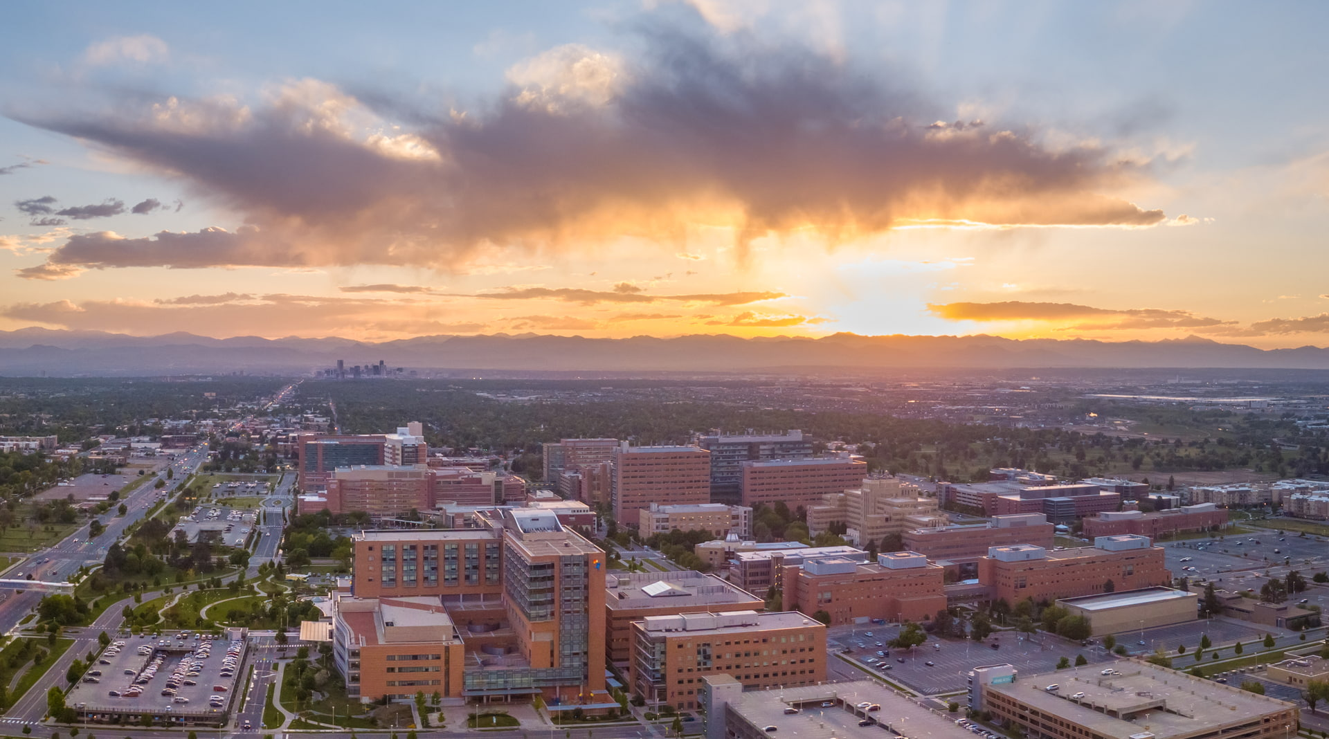 Anschutz campus birds-eye view